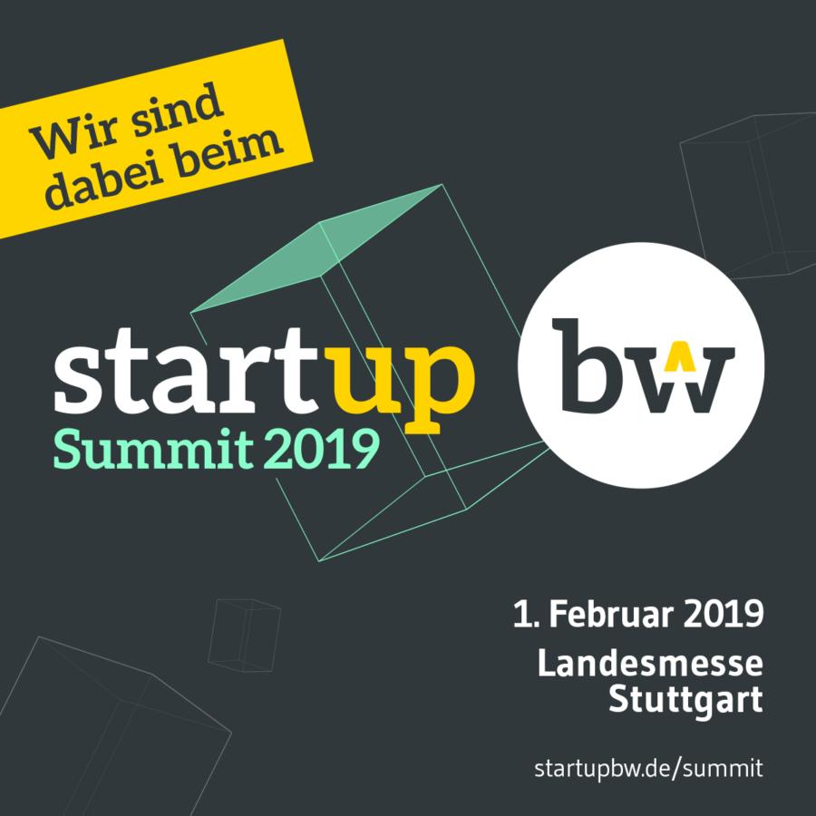"""cumpa ist Aussteller auf der """"Start-up BW Summit"""" am 1. Februar 2019 (Stand 12.20) Vorschaubild"""